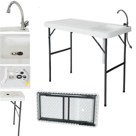 fish cleaning table with sink 2016 folding portable fish table cleaning cutting