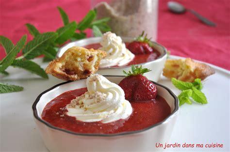 dans ma cuisine soupe de fraises un jardin dans ma cuisine