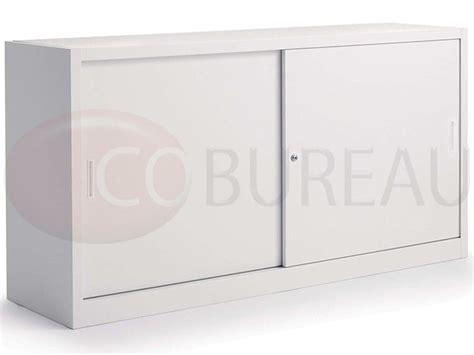 armoire bureau porte coulissante armoire métallique basse à portes coulissantes