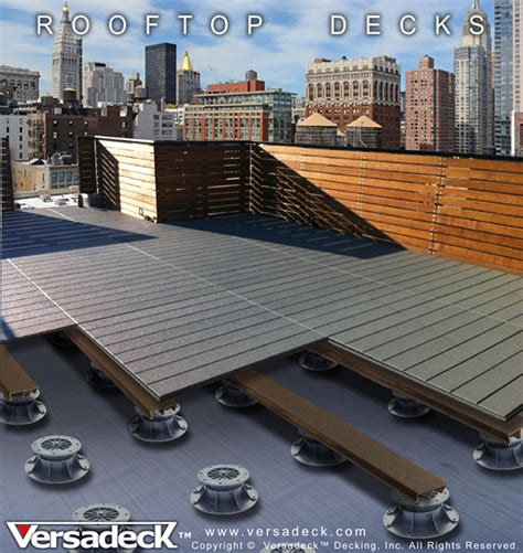 commercial decking  versadeck thick fire safe deck