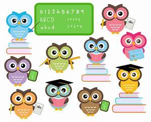 Owl School Clipart Classroom Education Clip by ...