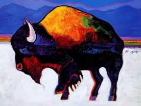 Native American Buffalo Paintings
