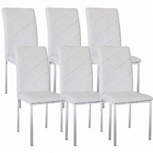 Chaises Pas Cher Lot De 6 : lot de 6 chaises design blanche ray achat vente chaise salle a manger pas cher couleur et ~ Teatrodelosmanantiales.com Idées de Décoration