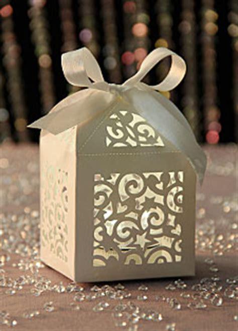 laser cut favor boxes set    satin ribbon buy