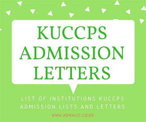 kuccps admission letters lists  schools admission