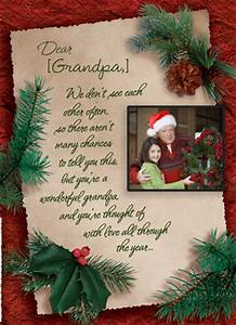 Holiday Letter for Grandpa Christmas Card