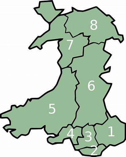 Wales Counties Wikipedia Map Cymru