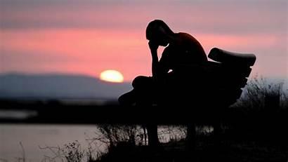 Sad Alone Silhouette Dark Sunset 1080p Background