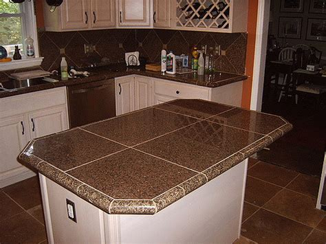 Kitchen Remodel With Granite Tile Countertops And Traverti