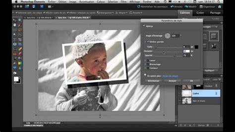 mettre un cadre en couleur dans une photo noir et blanc avec photoshop elements