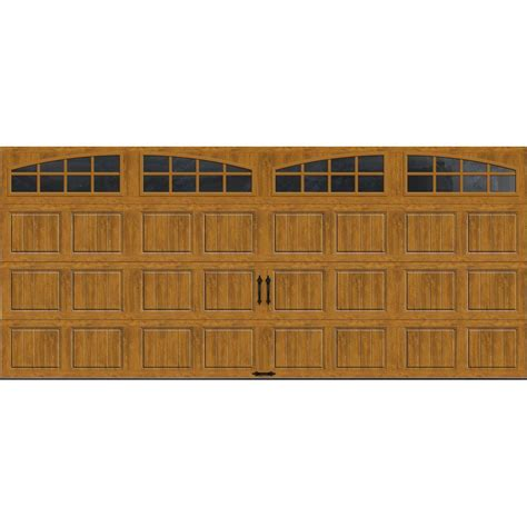 clopay garage doors home depot clopay gallery collection 16 ft x 7 ft 18 4 r value