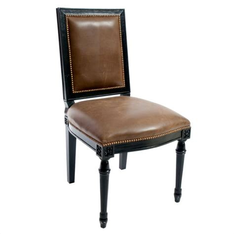 oly studio brown leather side chair 1 200 est retail