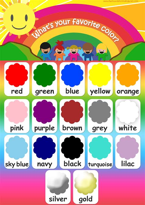 color flashcards teach colors free printable 807 | Colors poster 1