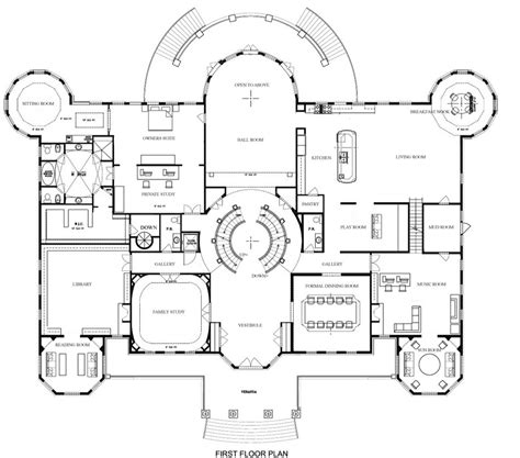 mansion floor plans a hotr reader s revised floor plans to a 17 000 square foot mansion homes of the rich