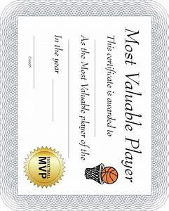 basketball award certificates With basketball mvp certificate template