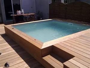 Mini Pool Terrasse : piscine hors sol carr avec terrasse ext rieur ~ Michelbontemps.com Haus und Dekorationen