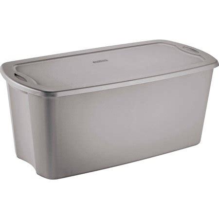 sterilite  gallon tote box titanium   case
