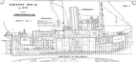 Mini Boat Drawing by Actif 1939 Tugboat Mine Layer Plans Boat Plans