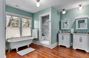 cool paint color for bathroom with white vanity cabinets With best brand of paint for kitchen cabinets with art ideas for bathroom walls