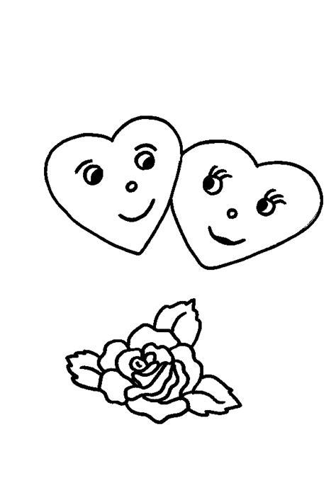 zwei herzen rose ausmalbild malvorlage liebe