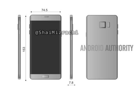 galaxy note  note  renders show  dual edges