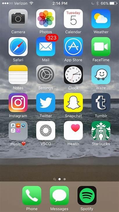 Iphone Screen App Layout Apps Screens Homescreen
