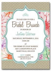 bridal shower brunch invitation wording bridal shower brunch invitation template by scripturewallart