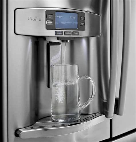 ge refrigerator profile series measures water   appliance video