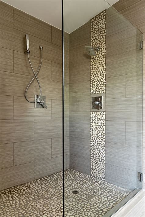 bathroom cozy pebble shower floor  unique