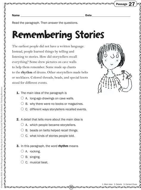 worksheets comprehension worksheets for grade 2