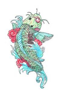 Zombie Koi Fish Drawing
