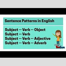 Basic Sentence Structure In English Youtube