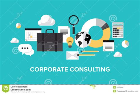 Corporate Management And Consulting Concept Stock Vector