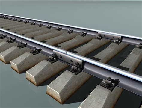Sleepers Free by 3d Model Railway Track Concrete Sleepers Cgtrader