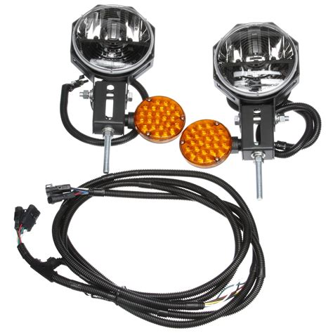led snow plow lights heated lens universal led 7 in snow plow light