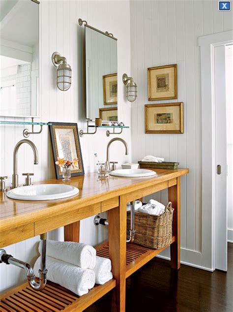 maritime sconces cottage bathroom  home ideas