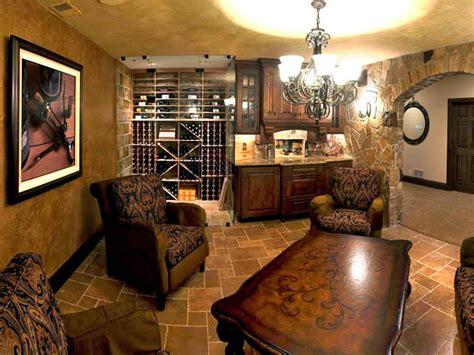 world inspired basement wine cellar  tasting room