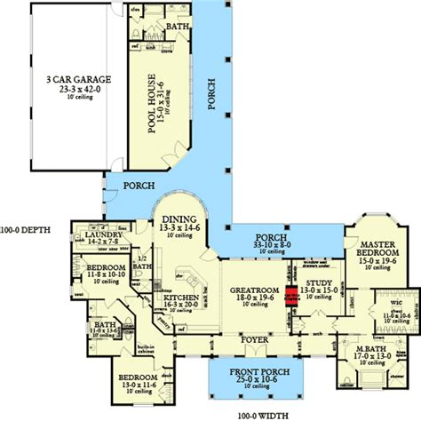 Corner Lot Floor Plans by Plan W62134v Ranch Country Corner Lot House