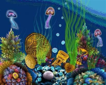 Sea Under Animated Garden Underwater Treasure Ocean