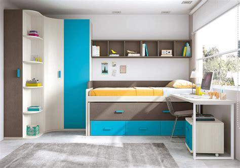 lit gigogne avec bureau chambre originale garcon