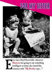 Sister Birthday Personalised Cards