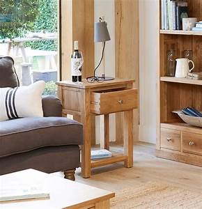 Mobel Solid Oak One Drawer Lamp Table COR10A