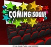 Stock Illustration of Movie Theatre Screen Coming Soon ...