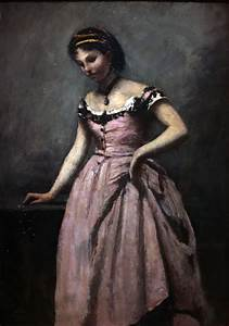 filejeune femme a la robe rose camille corot img 8351jpg With robe jeune femme