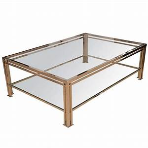 196039s french two tier chrome and glass coffee table at With two tier glass coffee table