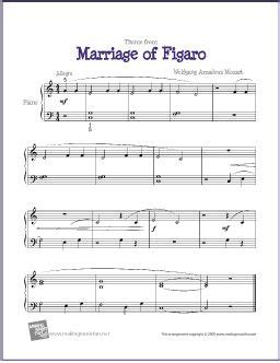 marriage of figaro sheet music for easy piano solo