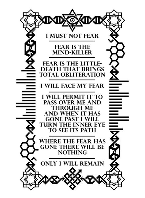 My client is getting a tattoo of the Bene Gesserit litany