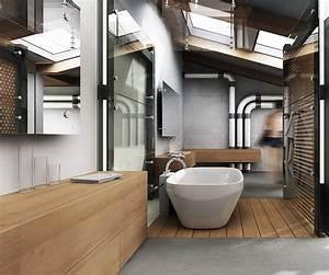 Meuble Salle De Bain Style Industriel : rev tements et meubles salle de bain bois massif et placage naturel ~ Melissatoandfro.com Idées de Décoration