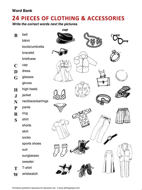 clothing and fashion clothes vocabulary esl