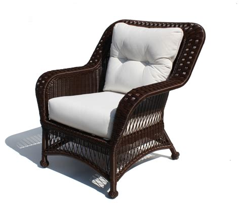 outdoor wicker chair princeton shown in brown wicker
